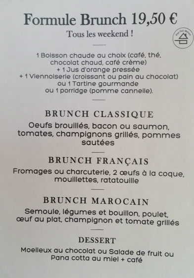 bon brunch à Paris